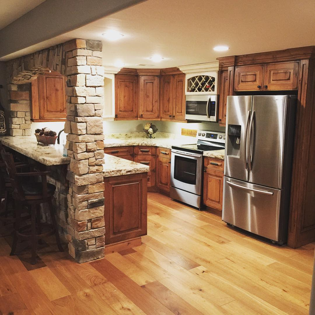 Rustic Basement Kitchen Ideas -leccabinets