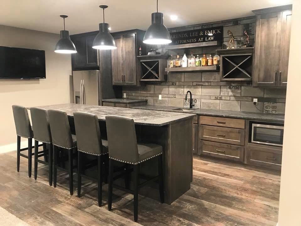 Rustic Basement Kitchen Ideas 2 -ccabinets