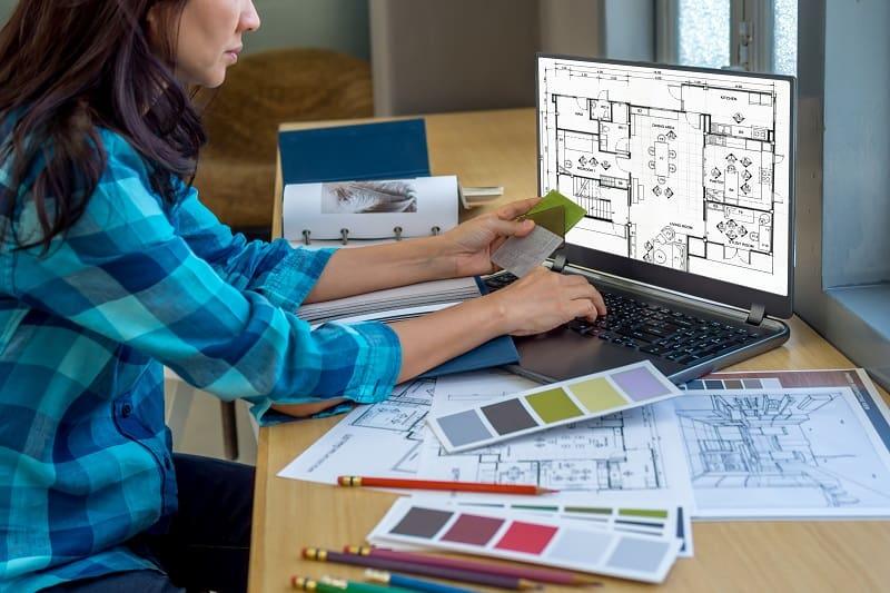 Be a freelance interior designer.