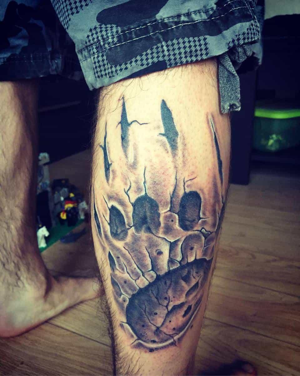 Bear Paw Leg Tattoo bboudreau44