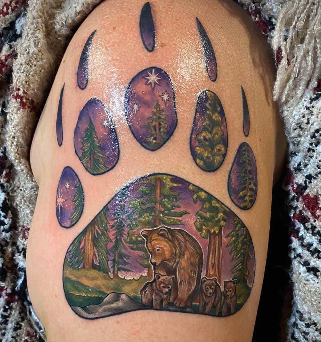 Bear Paw Shoulder Tattoo verotattooine