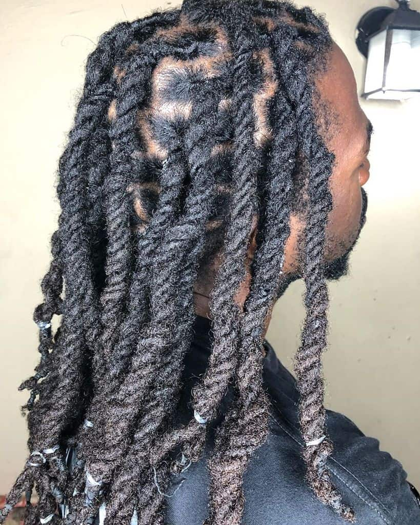 Beautifully Twisted Dreads. Twisting Is A Great Method To Form Locs, Though They Form Slowly