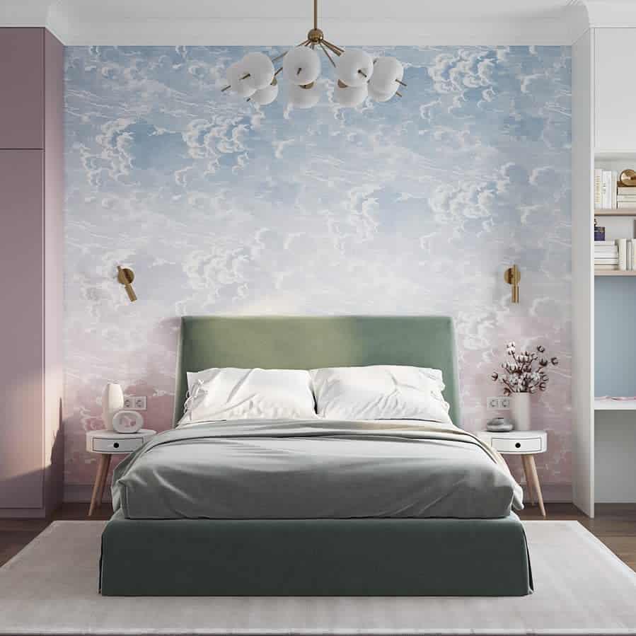 Bedroom Temporary Wall Ideas -aiganym_bashikova