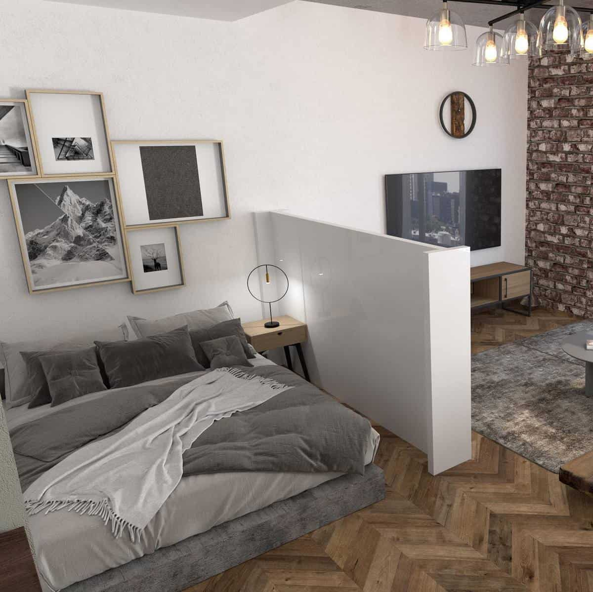 Bedroom Temporary Wall Ideas -diyversify