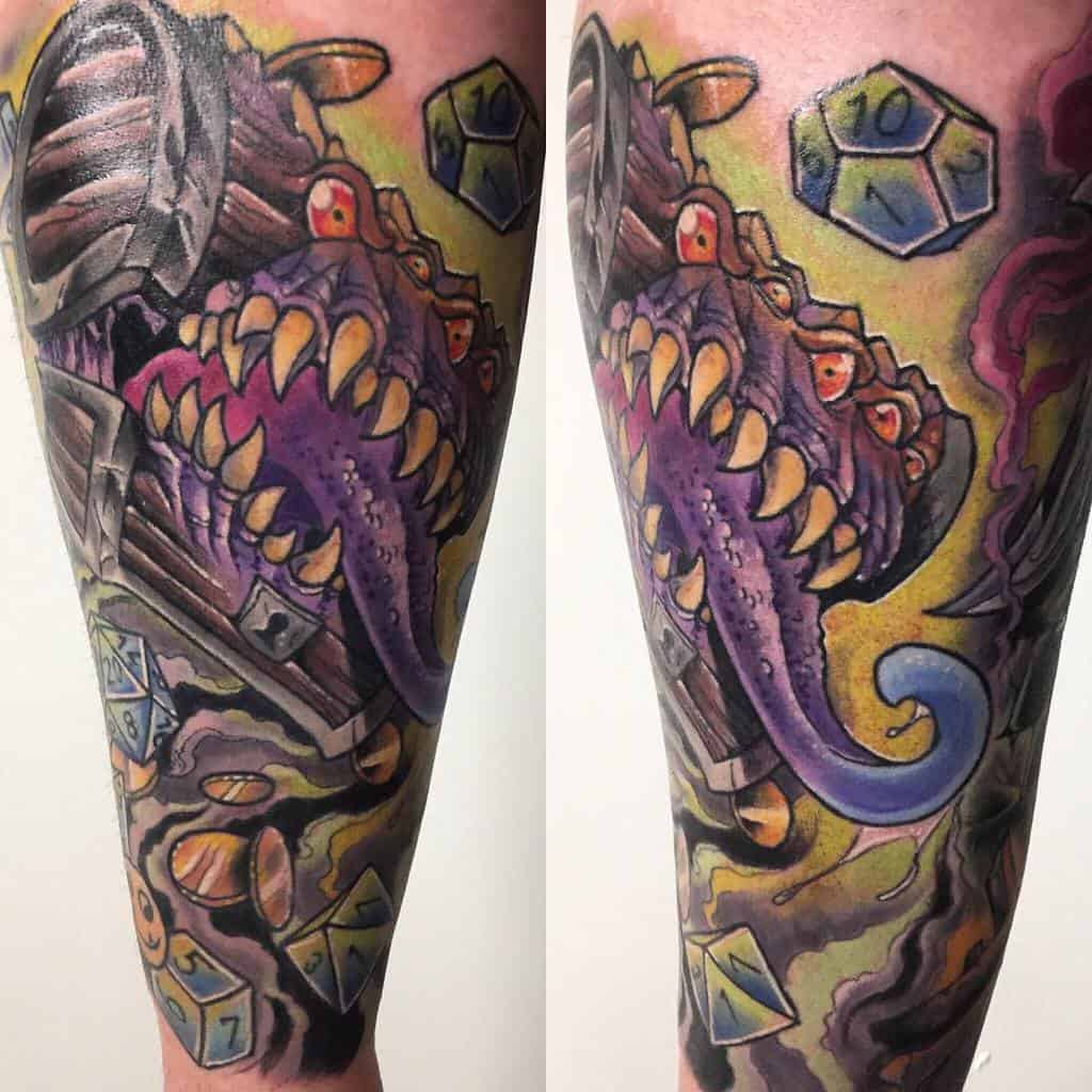 Beholder Dungeons And Dragons Tattoos Necromandi 2