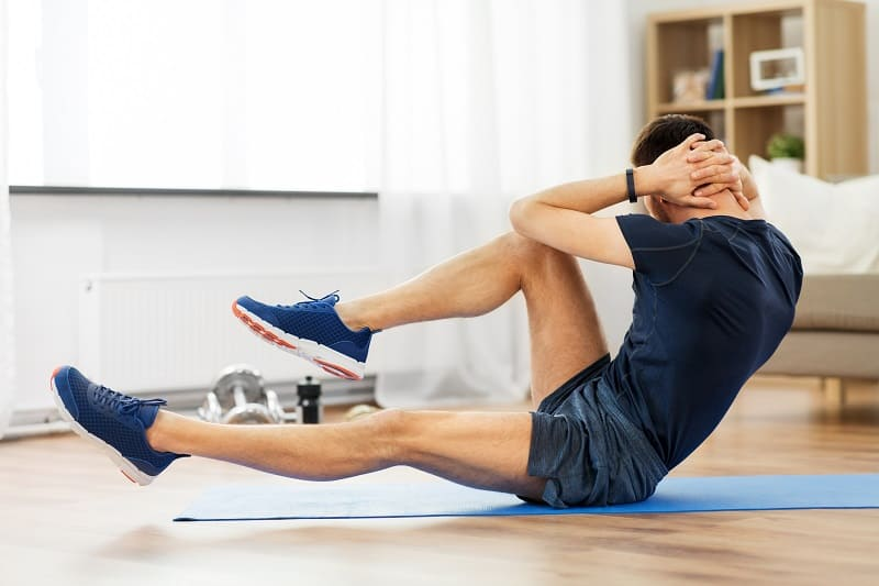 Bicycle Crunches - Exercise Routines And Home Workouts For Men