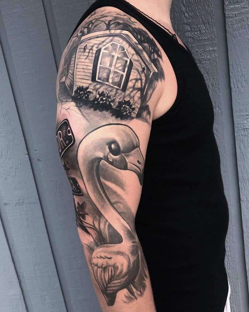 Black 34 sleeve tattoo heffronart