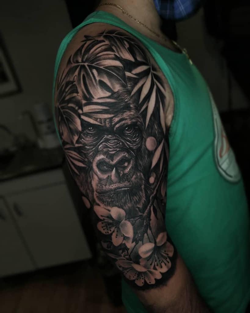 Black 34 sleeve tattoo leandro.zrz