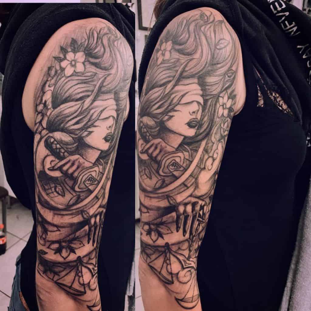 Black 34 sleeve tattoo steelhorsetattoo