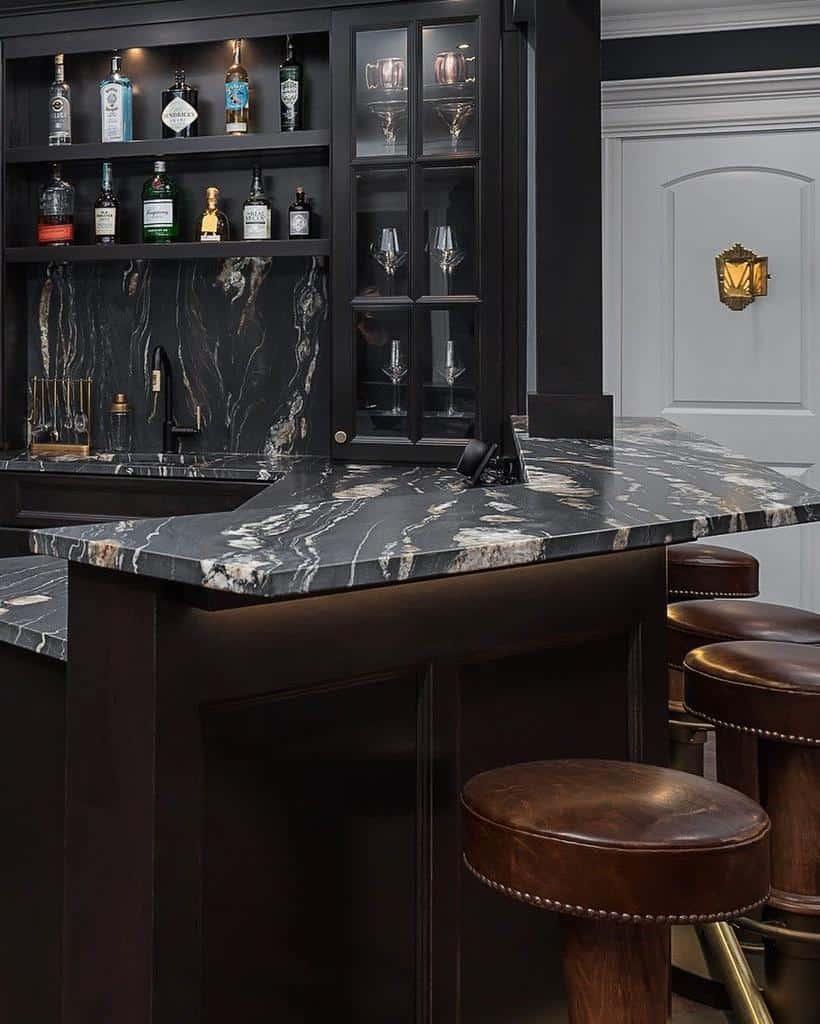 Black Basement Bar Ideas redstartconstruction