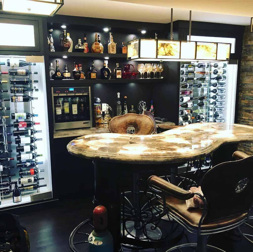 Black Basement Bar Ideas wineemotion.ca
