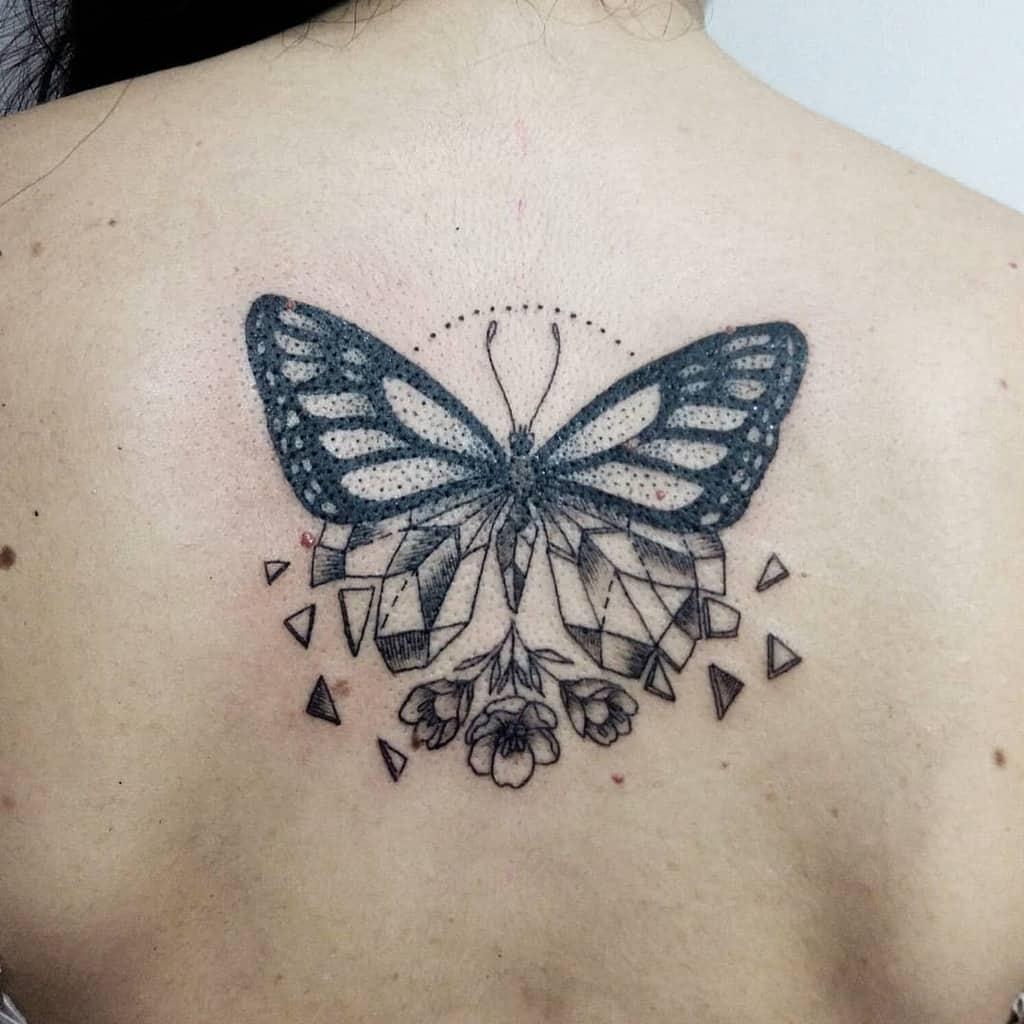 Black Butterfly Back Tattoo nattcoppola.tattoos