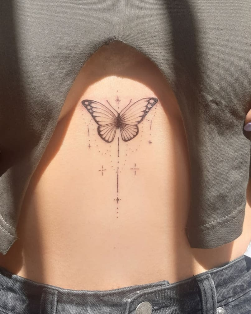 Black Butterfly Outline Tattoo ngr._tattoo