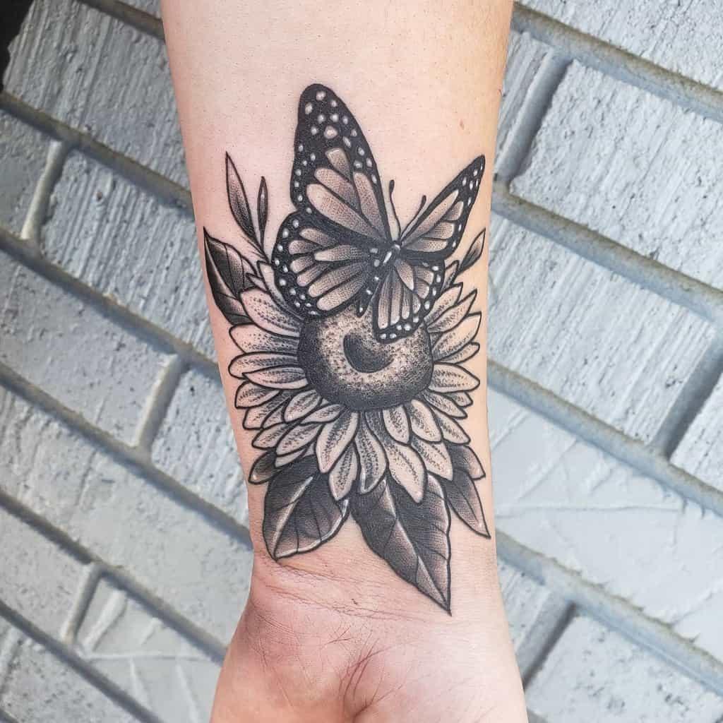 Black Butterfly Tattoo kelcie.spector