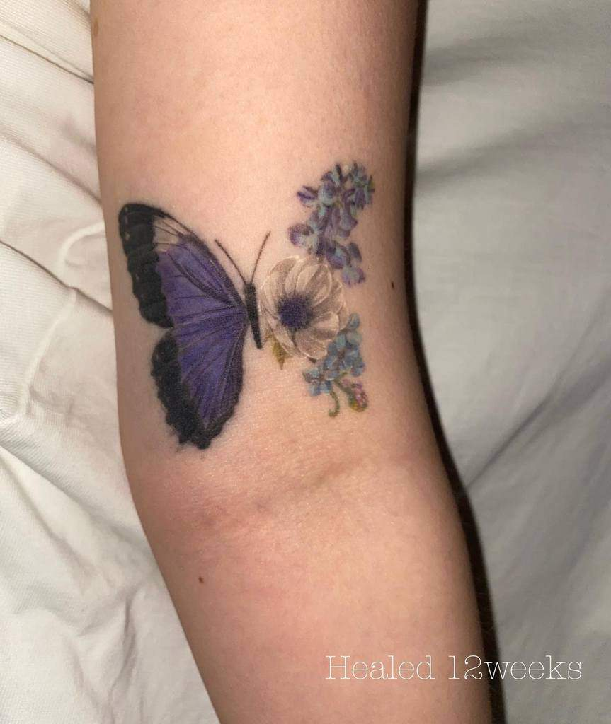 Black Butterfly Tattoo naim_ink