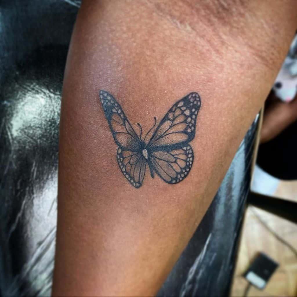 Black Butterfly Tattoo one_tatt