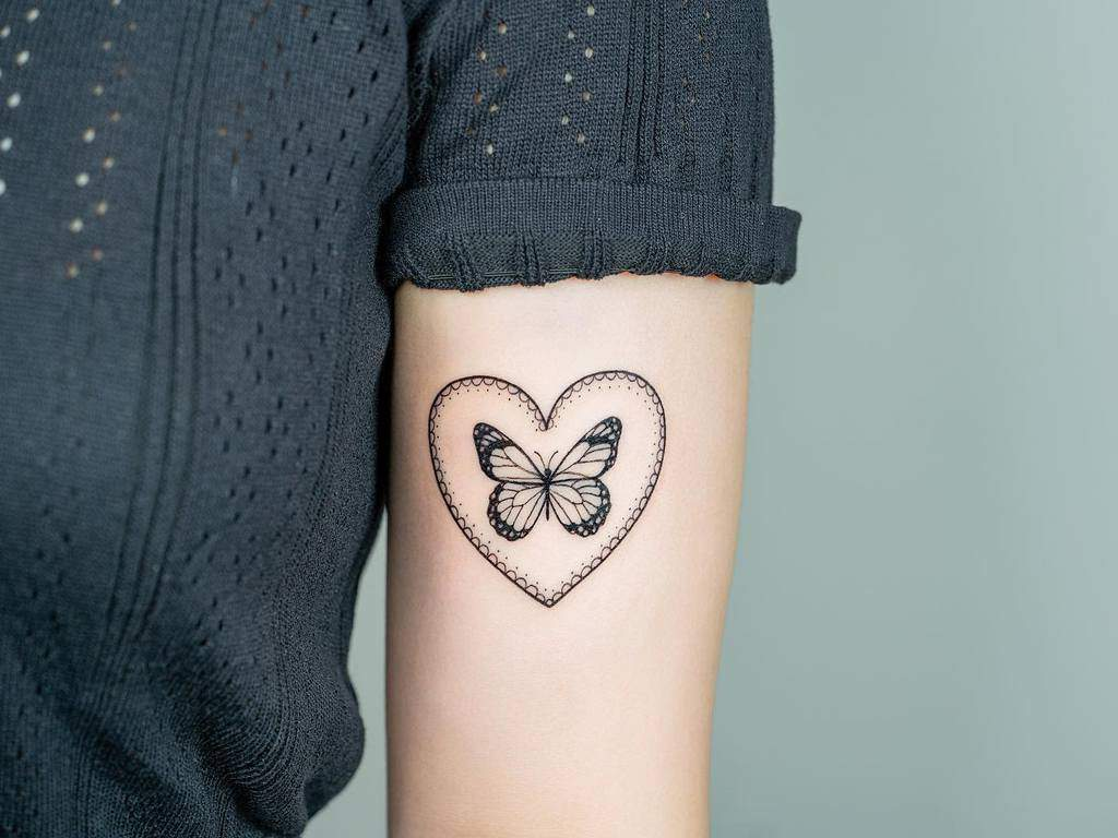 Black Butterfly Upperarm Tattoo bery_forestink