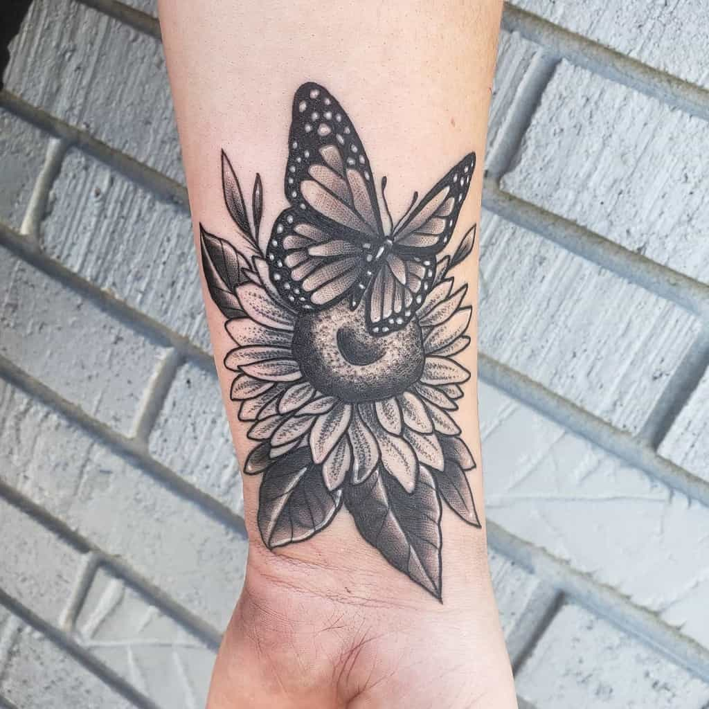 Black Butterfly Wrist Tattoo kelcie.spector