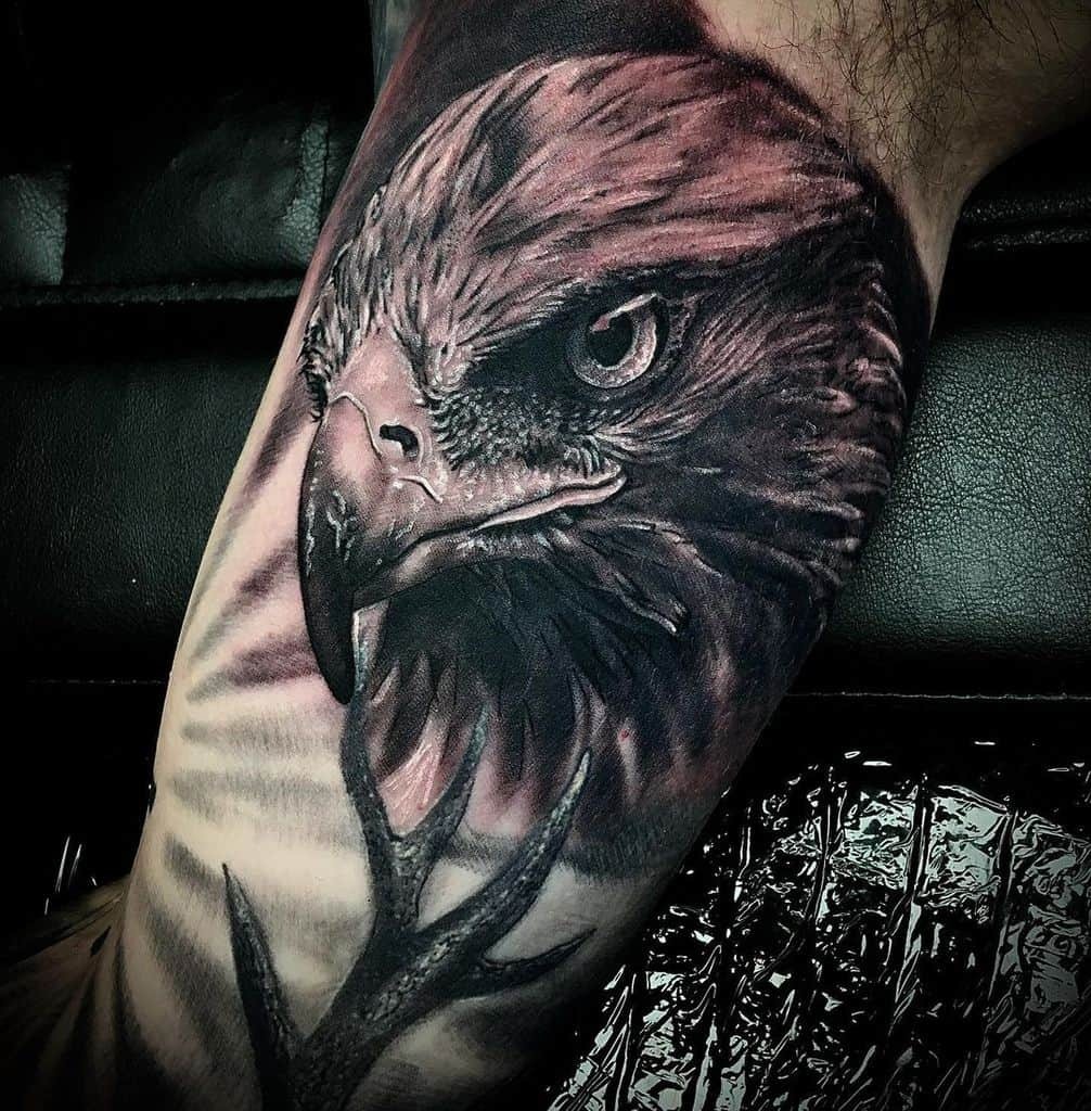 Black Eagle Head Tattoo jaroberserker