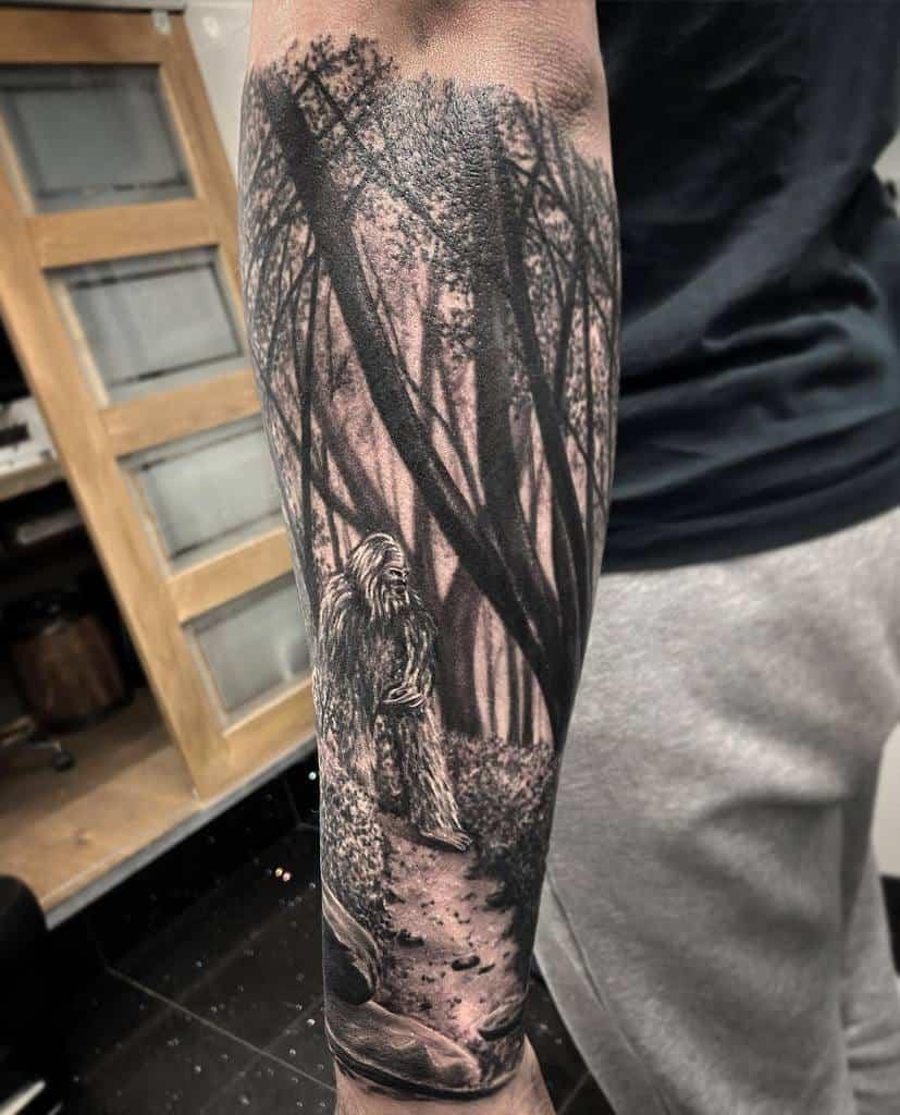 Black Forest Sleeve Tattoos gavdunbartattoos