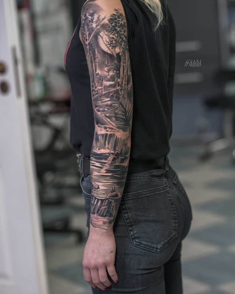 Black Forest Sleeve Tattoos milan_tatt