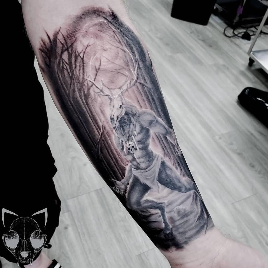 Black Forest Sleeve Tattoos zombiecattats