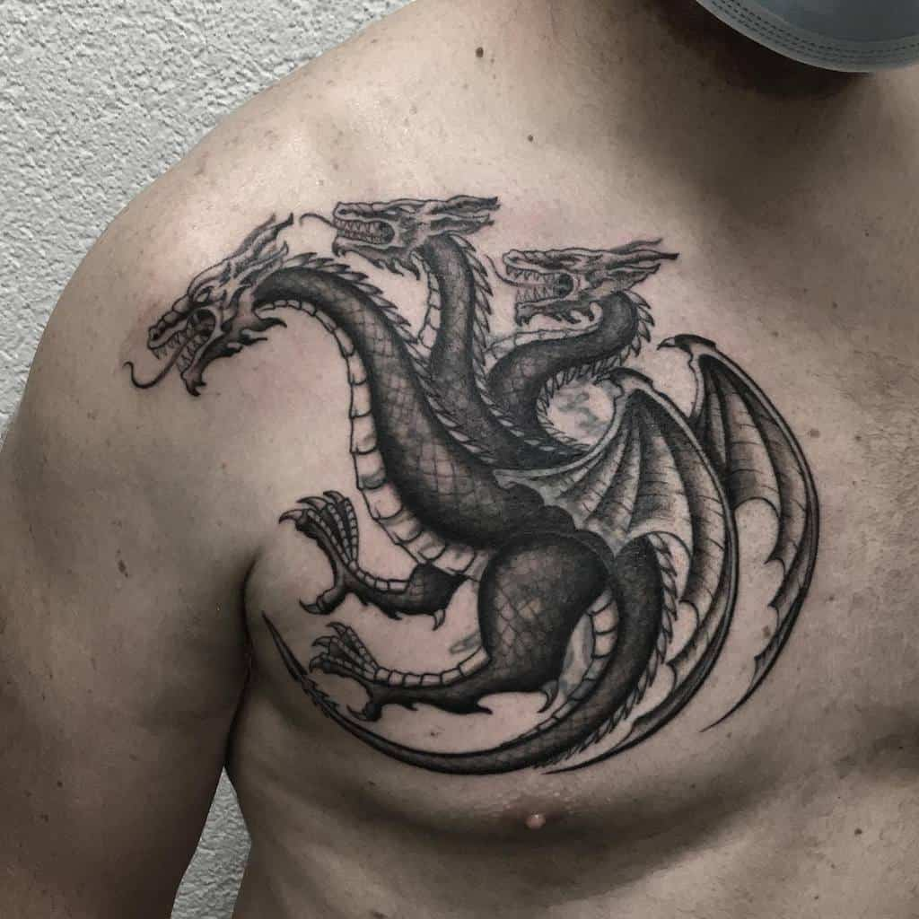 Black Game of Thrones Dragon Tattoo pe7ch
