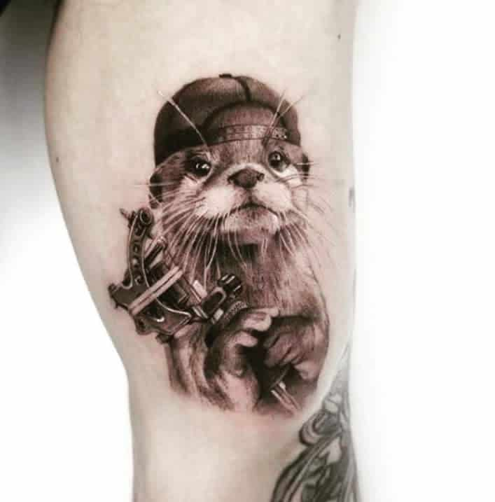 Top 71 Best Otter Tattoo Ideas – [2020 Inspiration Guide]