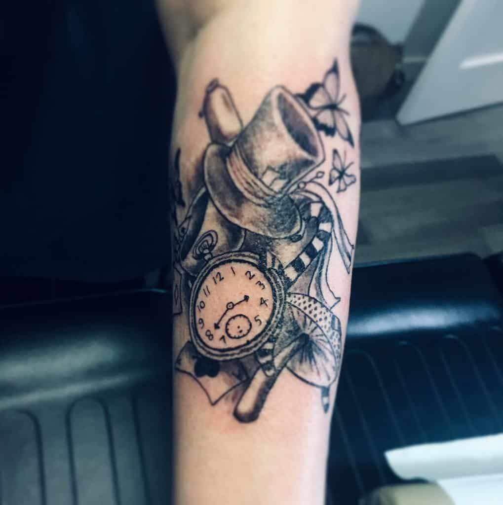 Black And Gray Tattoos Alice In Wonderland Travishordyski
