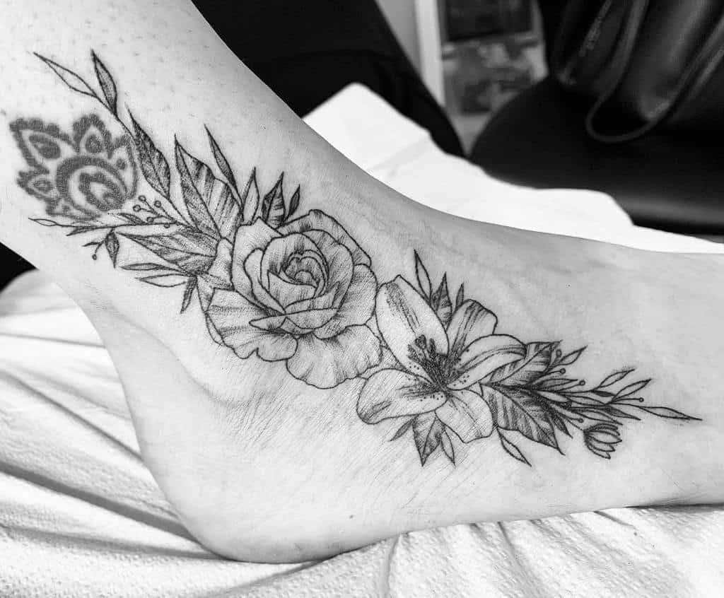 Black And Gray Lily Tattoo Tattoosbymell