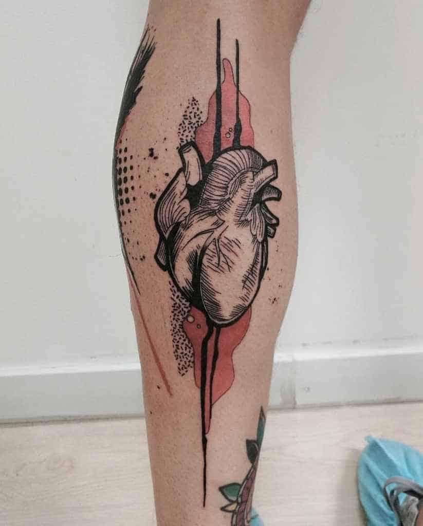 Black And Red Heart Tattoo Adriml Tattooer