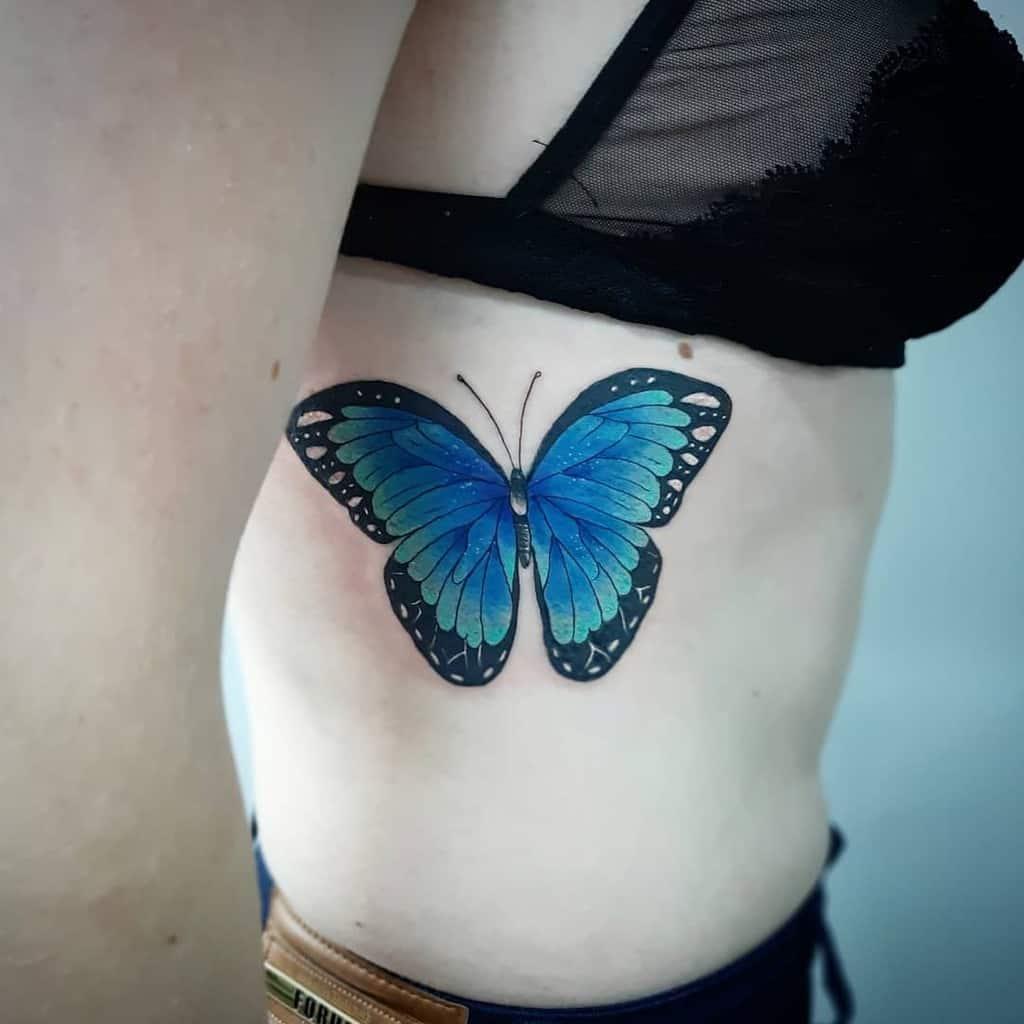 Blue Butterfly Tattoo iugue