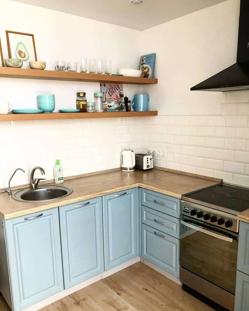 Blue Kitchen Cabinet Color Ideas helensoonrich