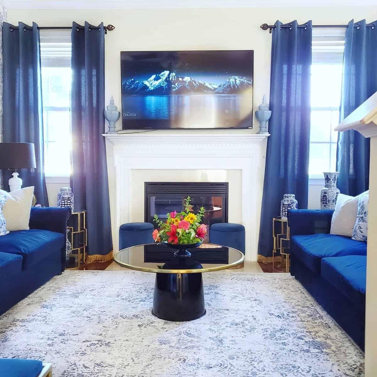 Blue Living Room Carpet ideas -georginashomedecor
