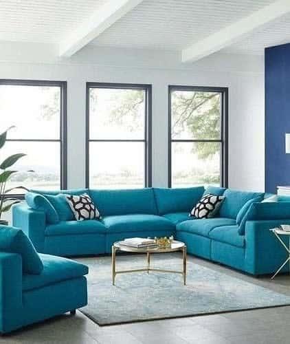 Blue Living Room Carpet ideas -kajaldecor