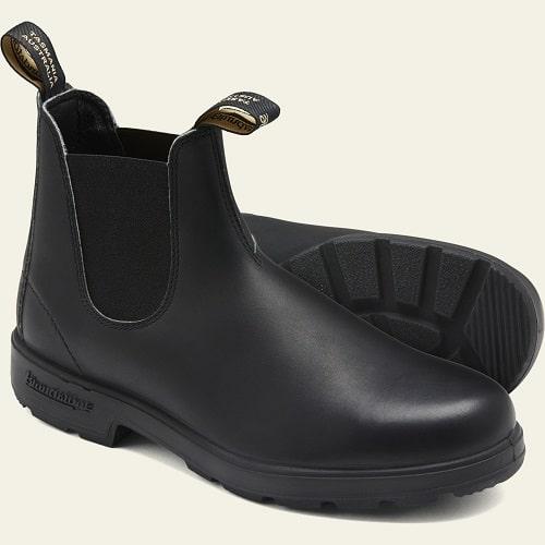 Blundstone Black Premium Leather V-Cut Boots #510