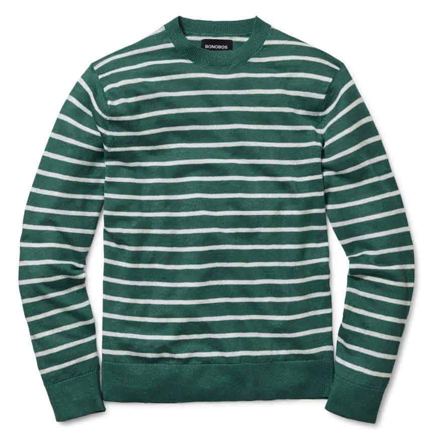 Bonobos Line Crewneck Sweater