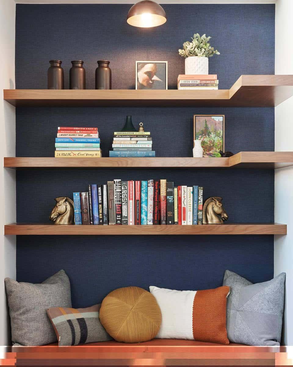 Bookcase Temporary Wall Ideas -bethanynauert