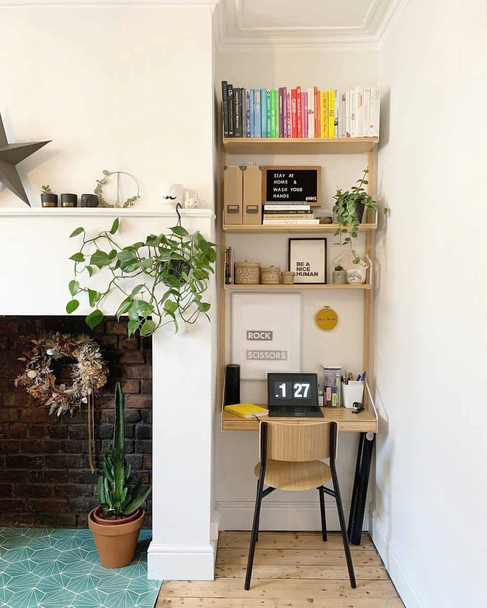 Bookcase Temporary Wall Ideas -thehousethatjenbuilt_