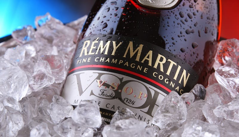 Bottle Of Remy Martin In Ice