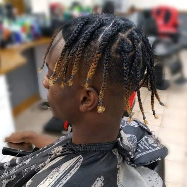 Box Braids With Fade Undercut Hairstyle