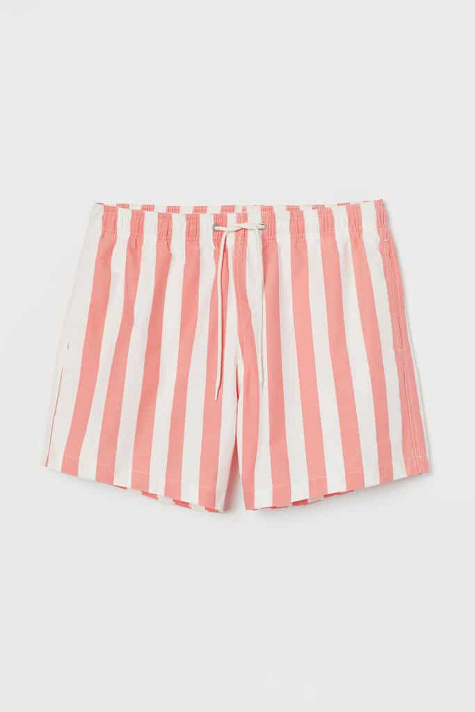 Swim shorts in woven fabric with an elasticized drawstring waistband