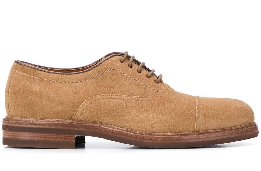 Brunello Cucinell Wildleder Oxford Schuhe
