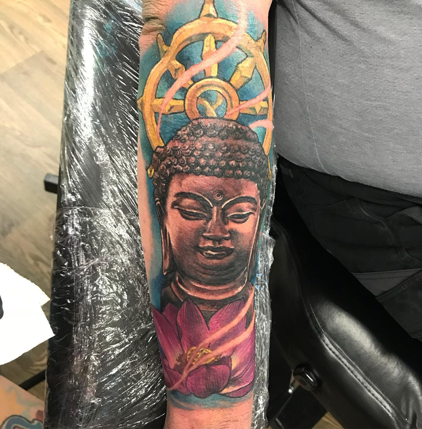 Forearm Buddha Tattoo -ob1kazoe