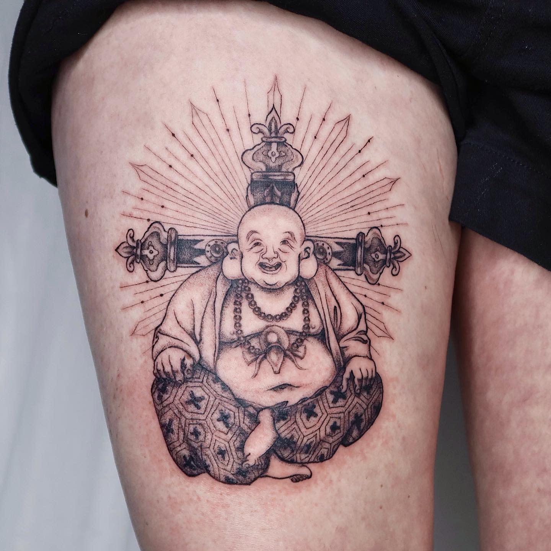 Laughing Buddha Tattoo -lexiiie_niiing