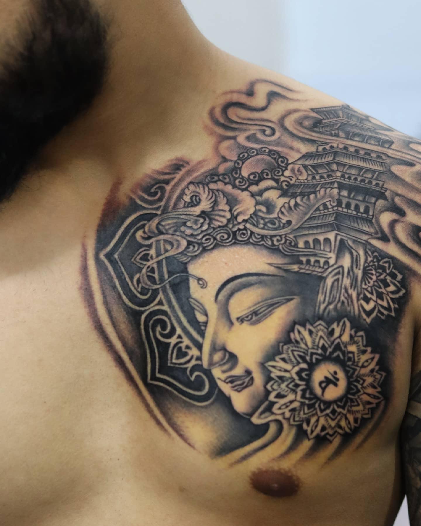 Mandala Buddha Tattoo -inkrazzy