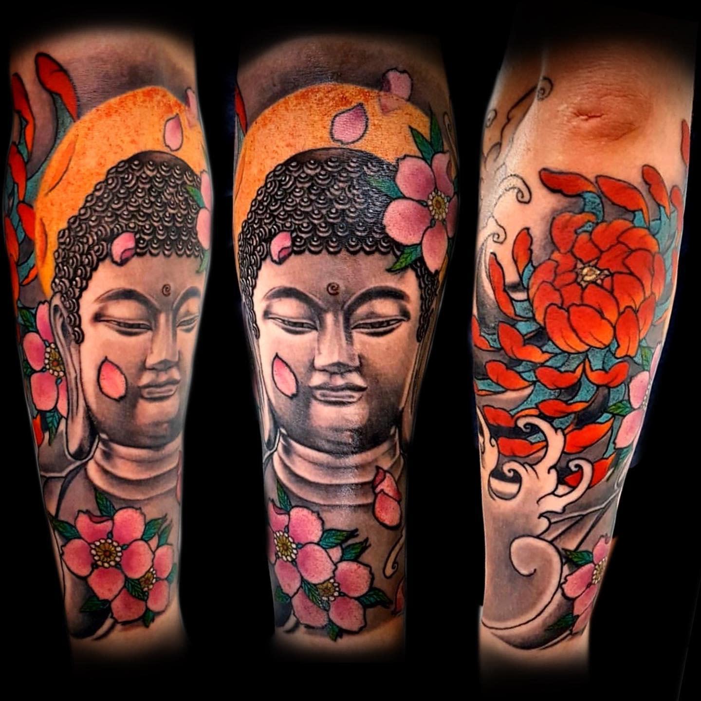 Oriental Buddha Tattoo -flavio_tattoo