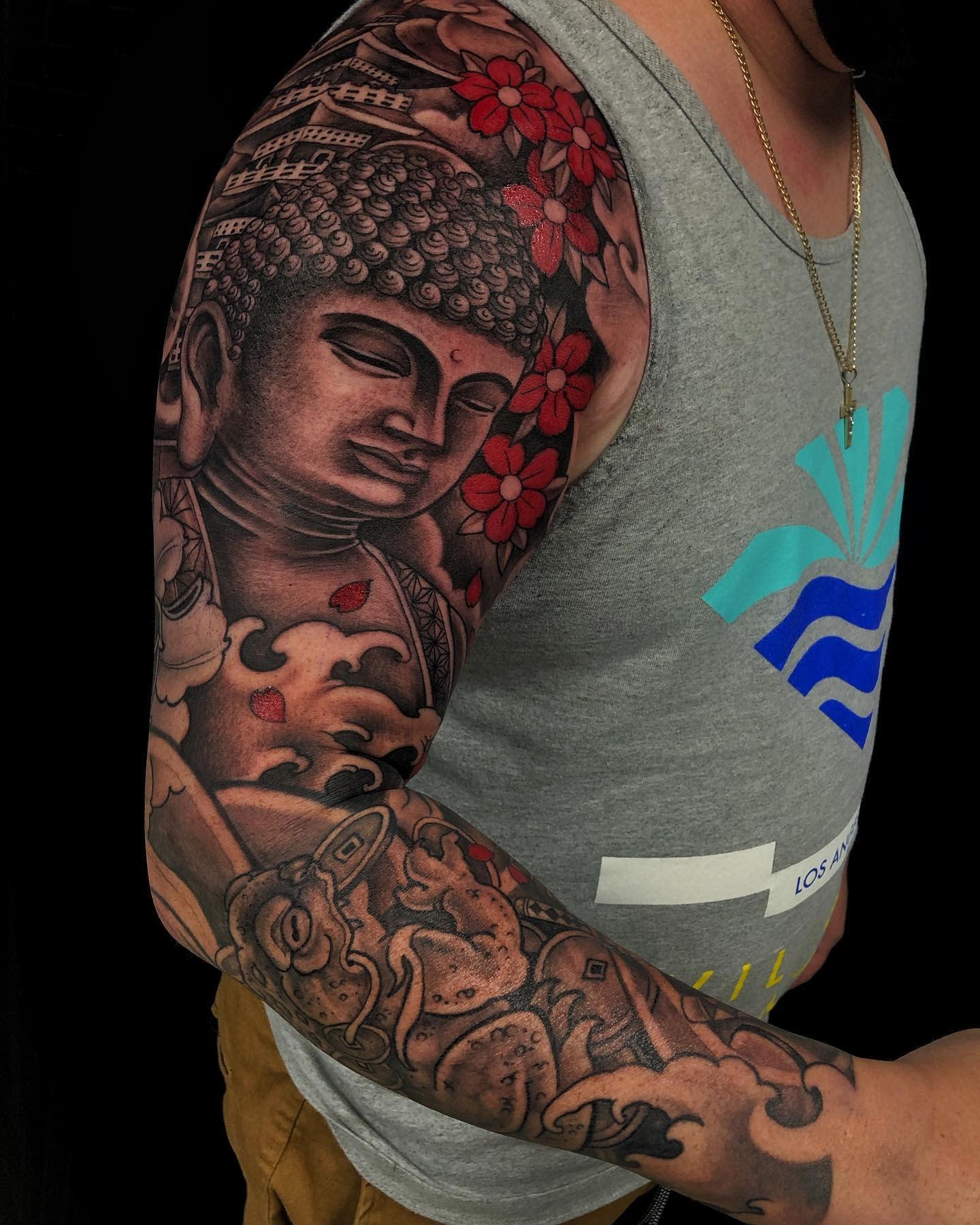 Oriental Buddha Tattoo -goldentriangleartstudio