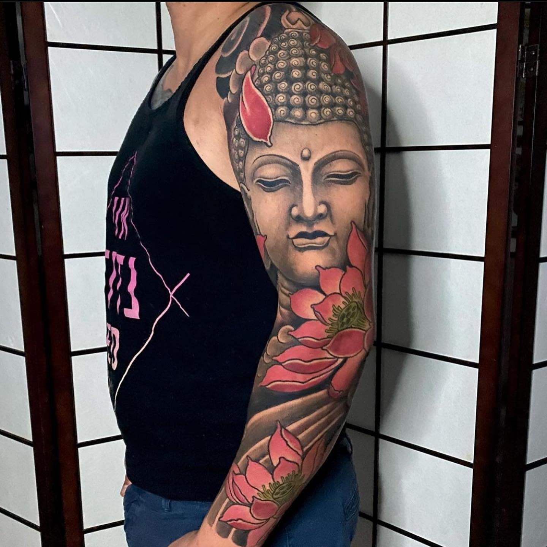 Oriental Buddha Tattoo -onebullet_tattoostudio
