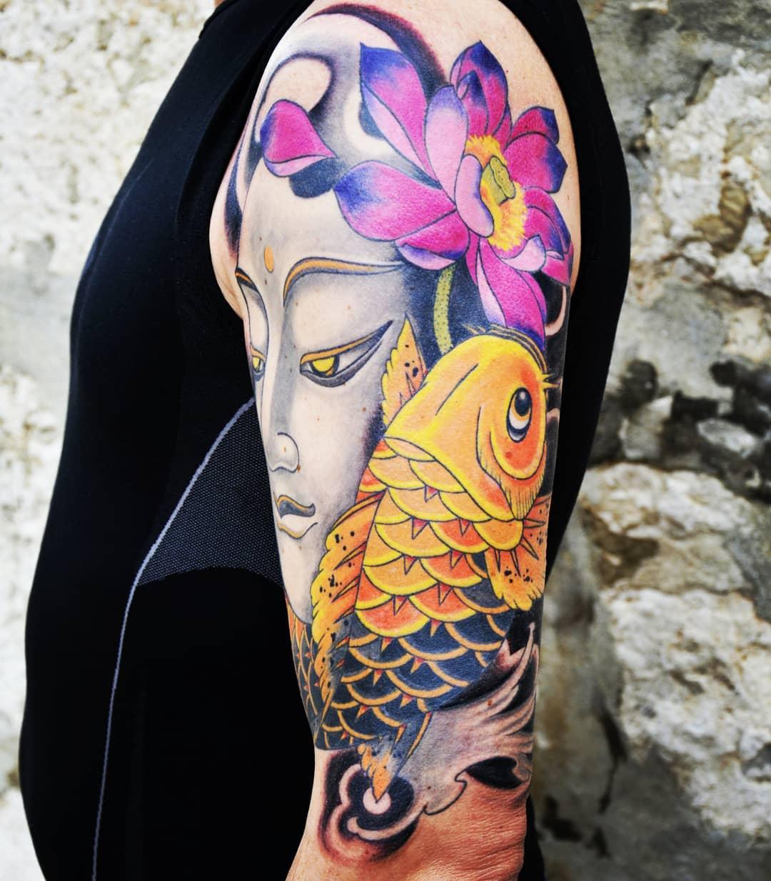 Oriental Buddha Tattoo -sashaaleksandar_japanese